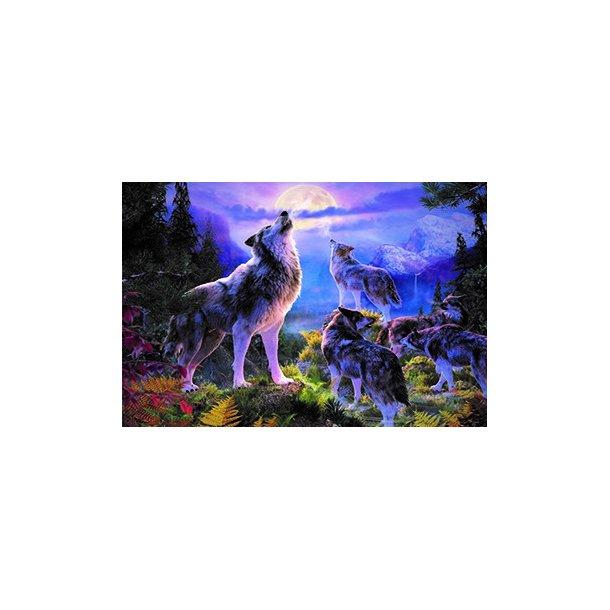 3D Postkort med Ulve