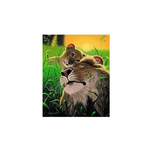 3D Postkort med Løver