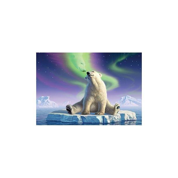 3D Postkort med Isbjørn
