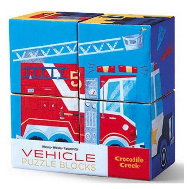 4 pc Block puslespil Køretøjer