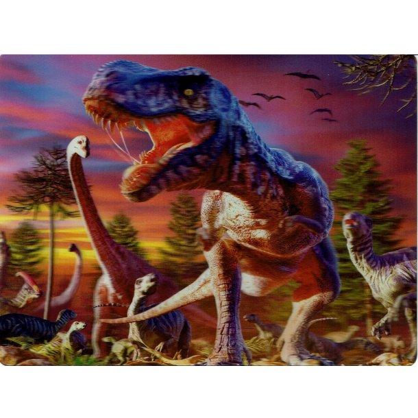 3D Postkort med Dinoer