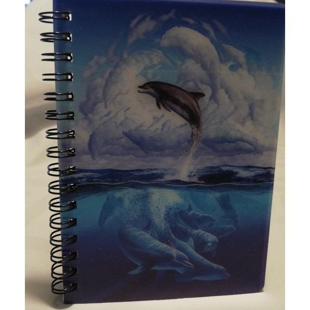 3D notesbog delfiner