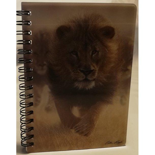 3D notesbog løve