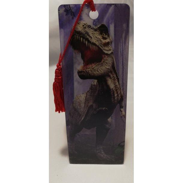 3D bogmærke med brølende T-rex