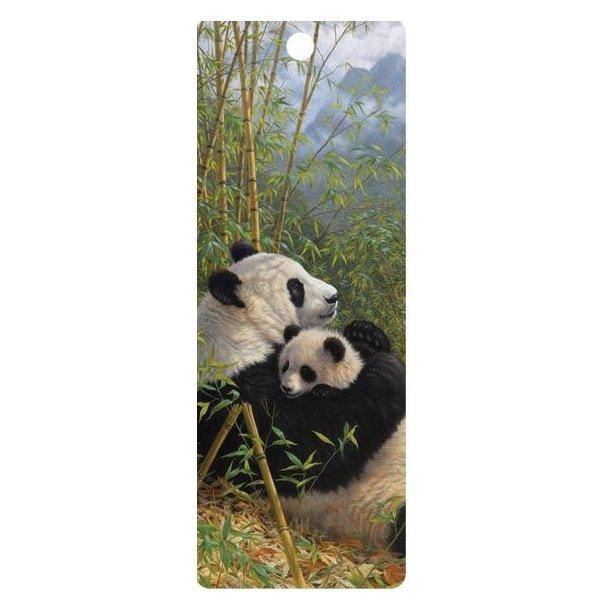 3D bogmærke med Pandaer