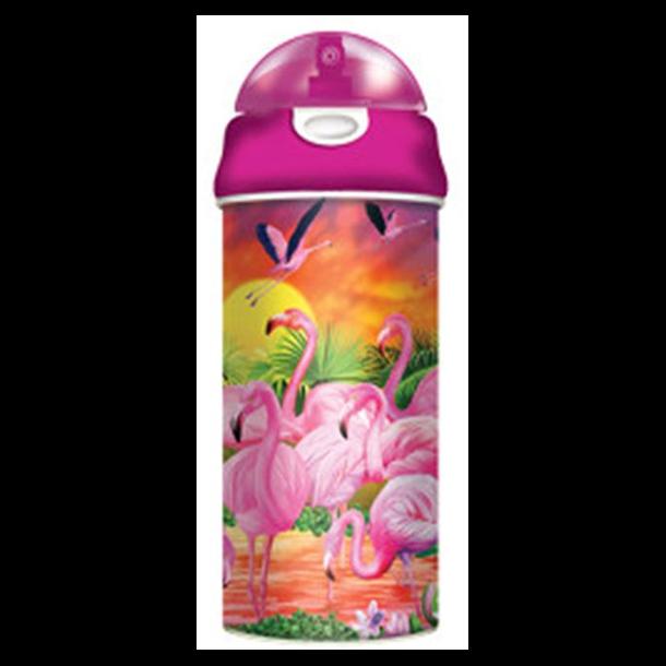 3D Drikkedunkmed Flamingo