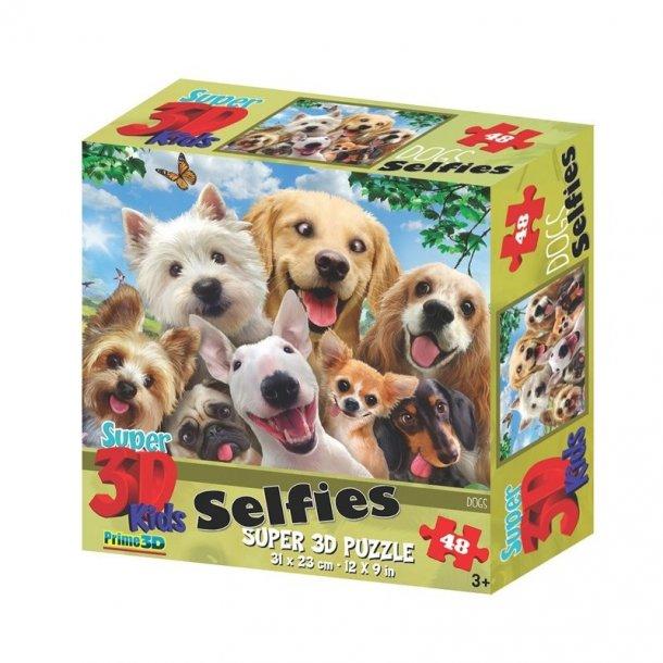 3D puslespil Selfies med 48 brikker
