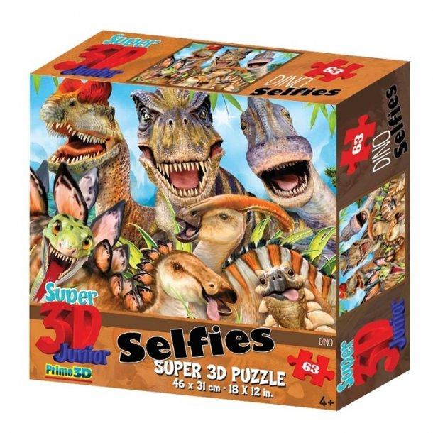 3D Dions Selfie puslespil 63 brikker
