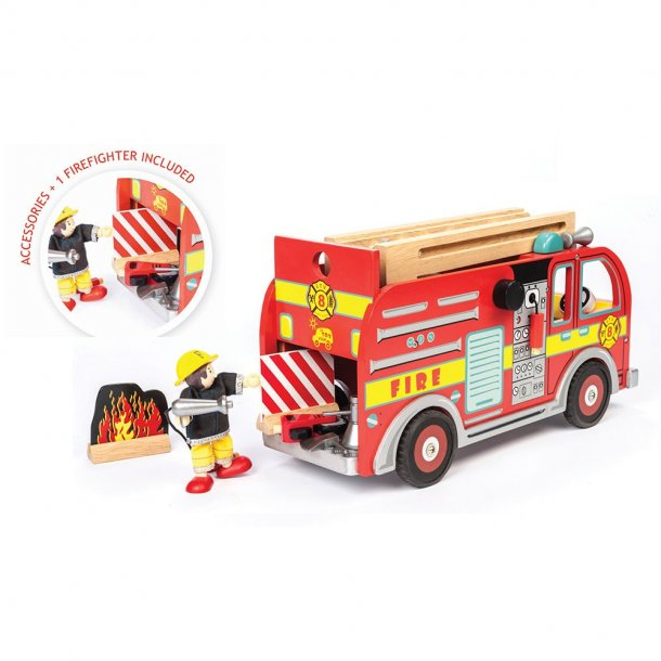 Le Toy Van Brandbil med tilbehør